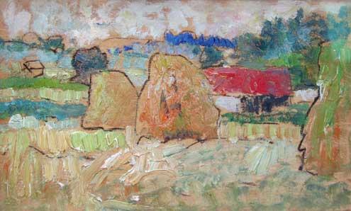 Ceres haystacks George Leslie Hunter